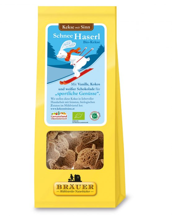 Kekse mit Sinn Schnee Haserl Bio-Kekse